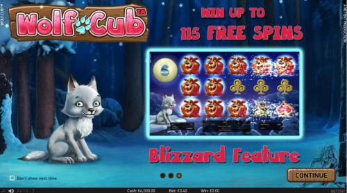 Wolf Cub Review Slots Blizzard Feature