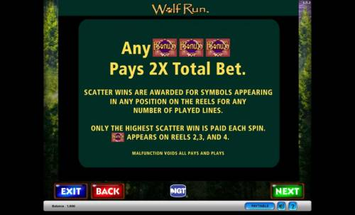 Wolf Run Review Slots Wolf Run Bonus and Scatter Wins