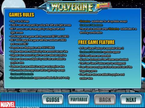 Wolverine Action Stacks Review Slots game rules and free game feature