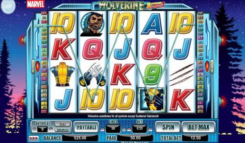 Wolverine Action Stacks Review Slots five of a kind triggers 50 coin payout