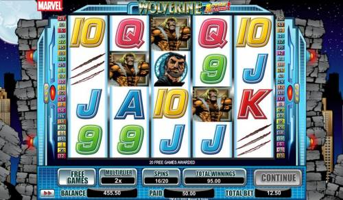 Wolverine Action Stacks Review Slots free games can be retriggered during free games feature