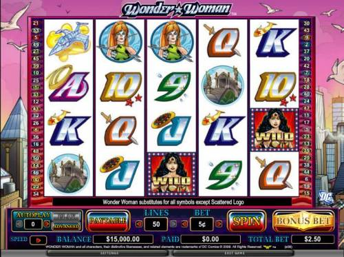 Wonder Woman review on Review Slots