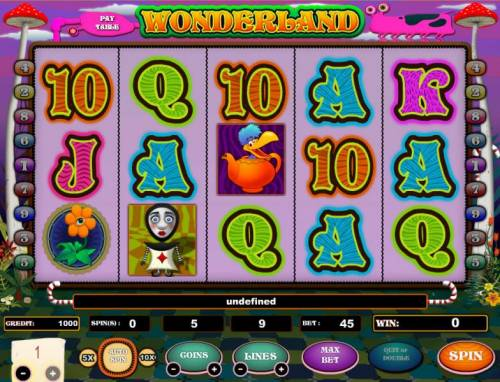 Wonderland review on Review Slots
