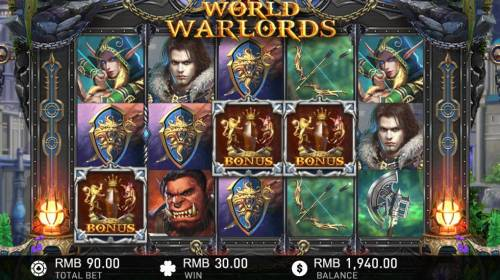 World of Warlords Review Slots Bonus game triggered