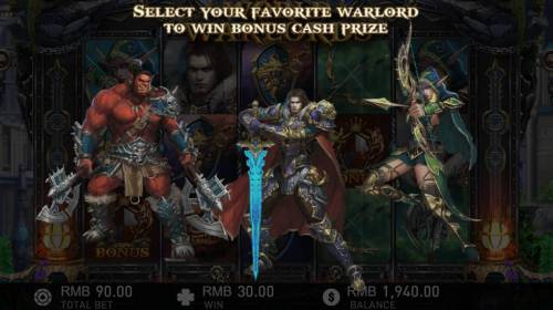 World of Warlords Review Slots Select your favorite warlord to win bonus cash prize