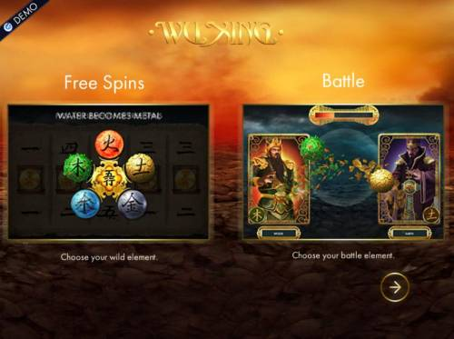 Wu Xing Review Slots Game features include: Free Games and Battle feature
