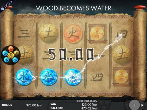 Wu Xing Review Slots Selected elements will change into the element that was originaly selected at the beginning of the free spins feature.