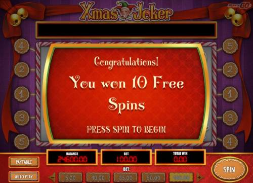 Xmas Joker Review Slots 10 free spins have been awarded.