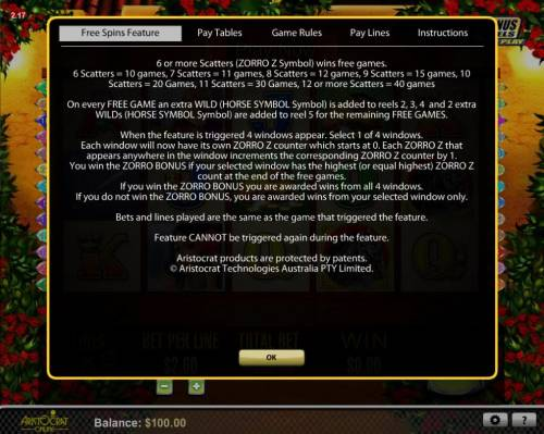 Zorro The Tale of the Lost Gold Review Slots Free Spins Fetaure Rules