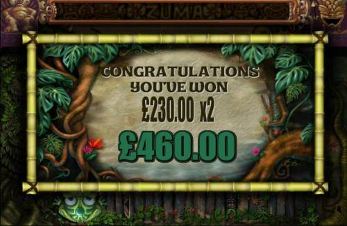 Zuma Slots Review Slots The free sins feature pays out a total of $460.00