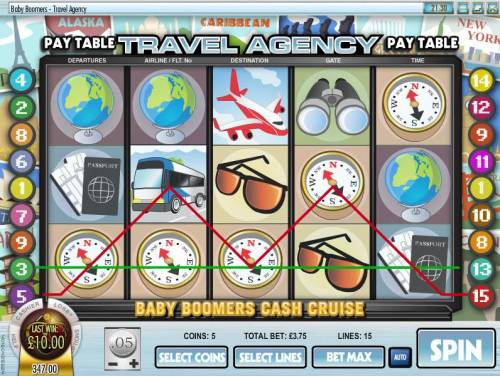 Baby Boomers Cash Cruise Review Slots multiple winning paylines triggers a $10 payout
