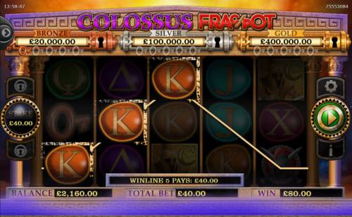 Colossus Fracpot Review Slots A winning three of a kind