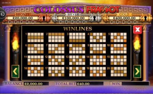 Colossus Fracpot Review Slots Paylines 1-20