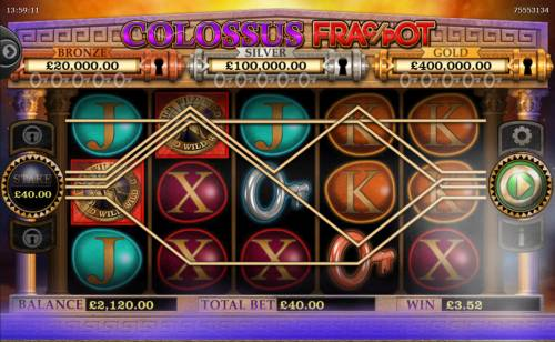 Colossus Fracpot Review Slots Multiple winning paylines triggers a big win