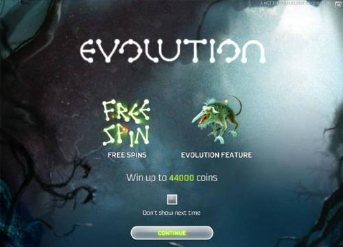 Evolution Review Slots win up to 44000 coins