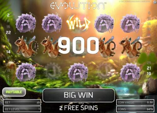 Evolution Review Slots two five of a kinds triggers a 900 coin big win payout