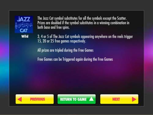 Jazz Cat Review Slots Wild Symbol Rules