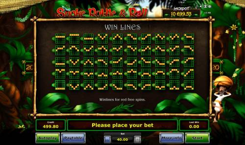 Snake Rattle & Roll Review Slots Red Free Spins Win Lines 1-50