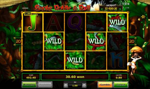 Snake Rattle & Roll Review Slots Multiple winning paylines triggers a big win!