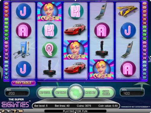 Super Eighties Review Slots Scatter free spin bonus triggered
