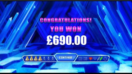 Superman the Movie Review Slots Crystal Bonus feature pays out a total of 690.00
