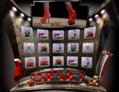 The Reel De Luxe Review Slots Main game board featuring five reels and 25 paylines with a $5,000 max payout