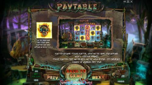 Totem Island Review Slots Scatter Symbol Rules During Main and Free Spins Game