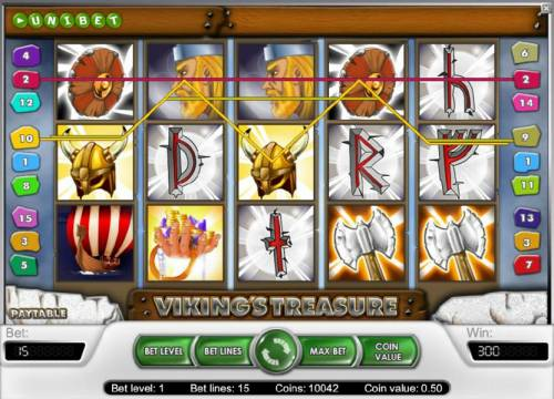 Viking's Treasure Review Slots a couple of wild symbols trigger multiple winning payline to produce a 300 big win