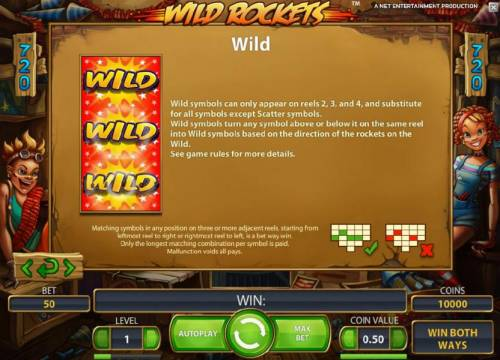 Wild Rockets Review Slots wild symbol game rules