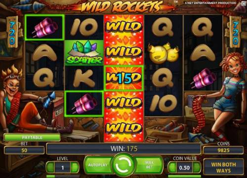 Wild Rockets Review Slots expanding wild triggers multiple winning paylines that pay out a 175 coin jackpot