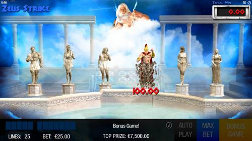 Zeus Strike Review Slots frozen statues are zapped and cash prie revealed