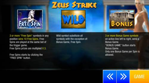 Zeus Strike Review Slots Wild and Scatter Symbol Rules