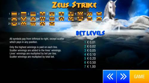 Zeus Strike Review Slots Paylines 1-25